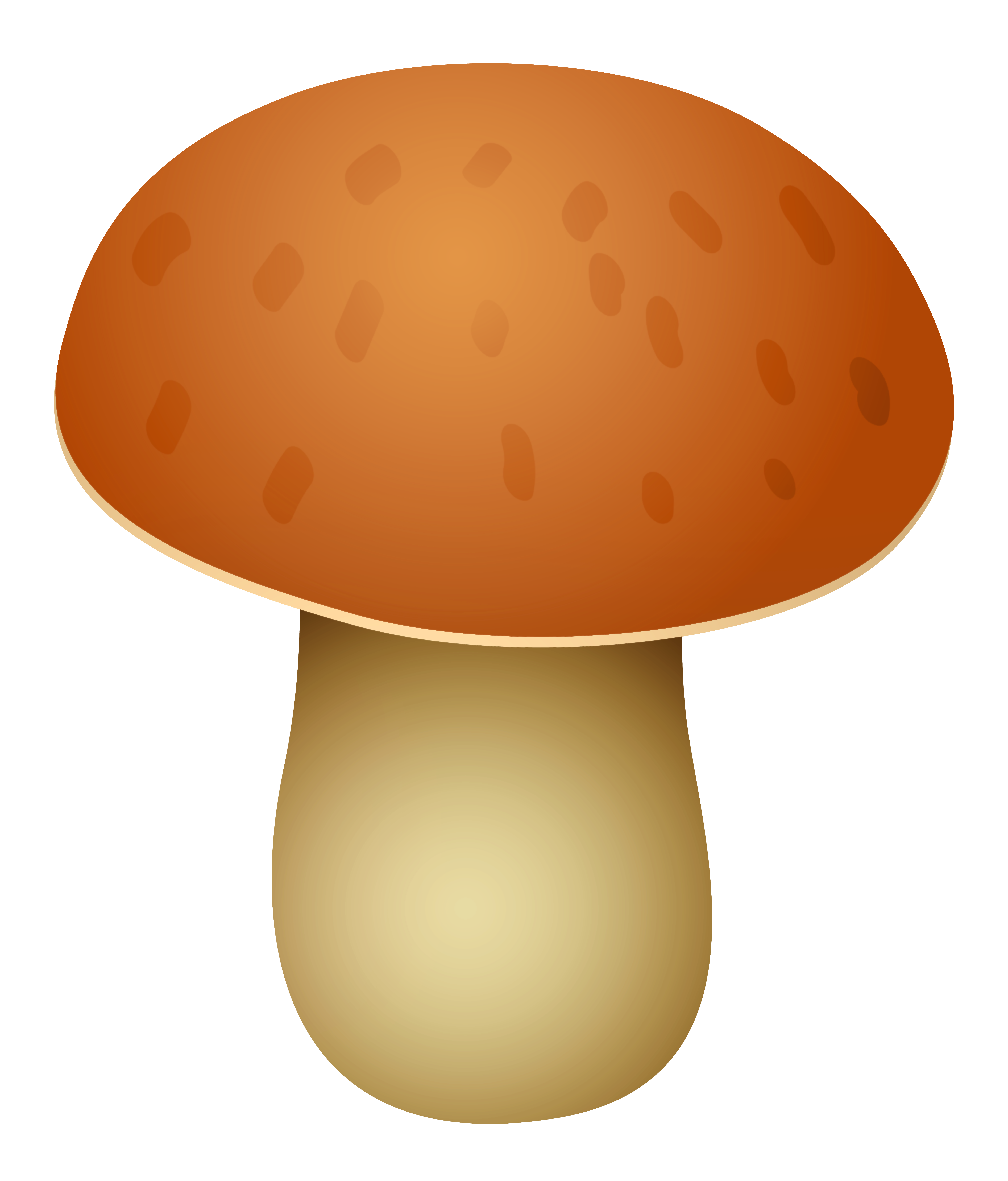 Brown car clipart jpg transparent Brown Spotted Mushroom PNG Clipart - Best WEB Clipart jpg transparent