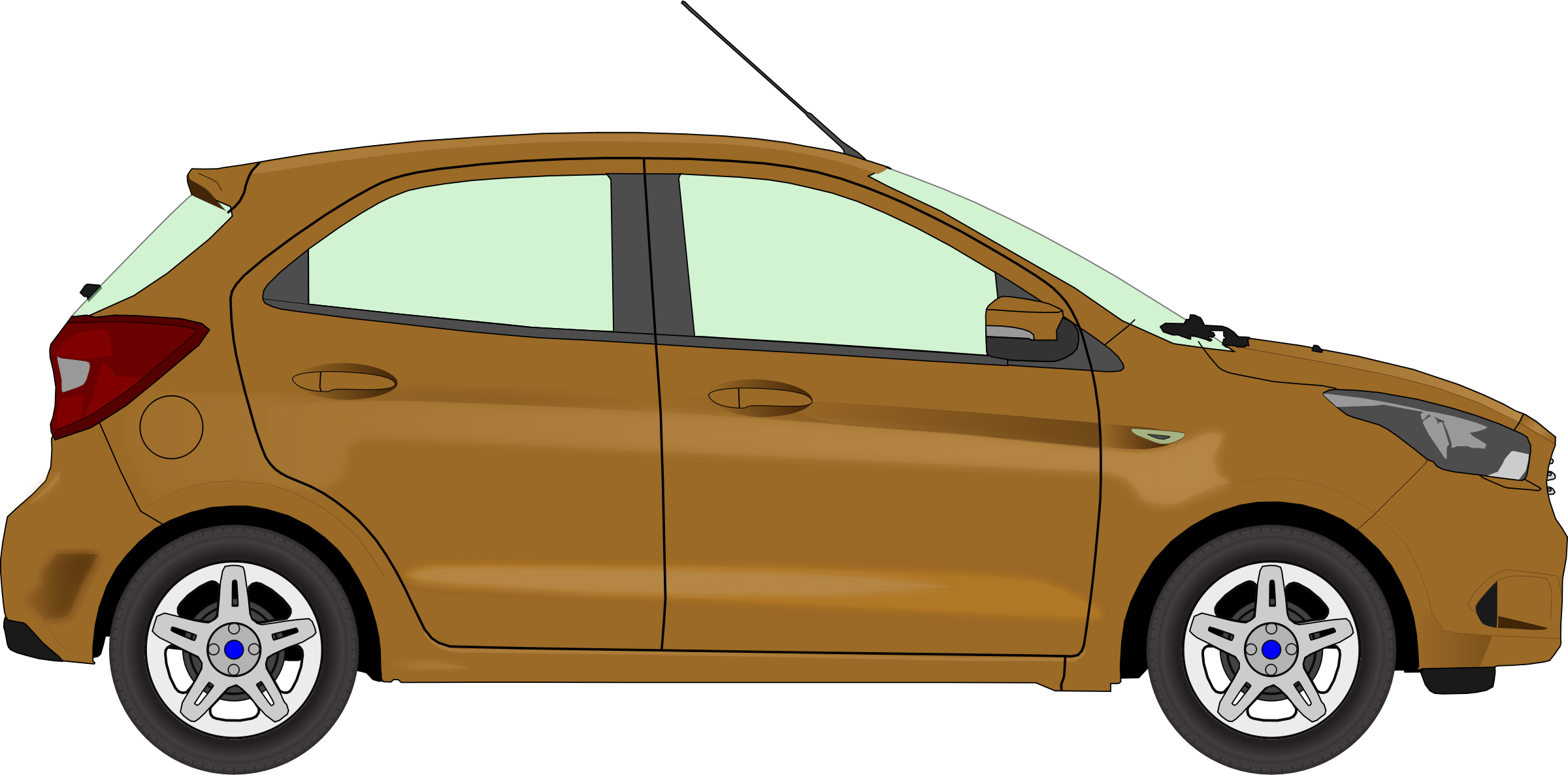 Brown car clipart clip transparent library Clipart - Car 13 (brown) clip transparent library
