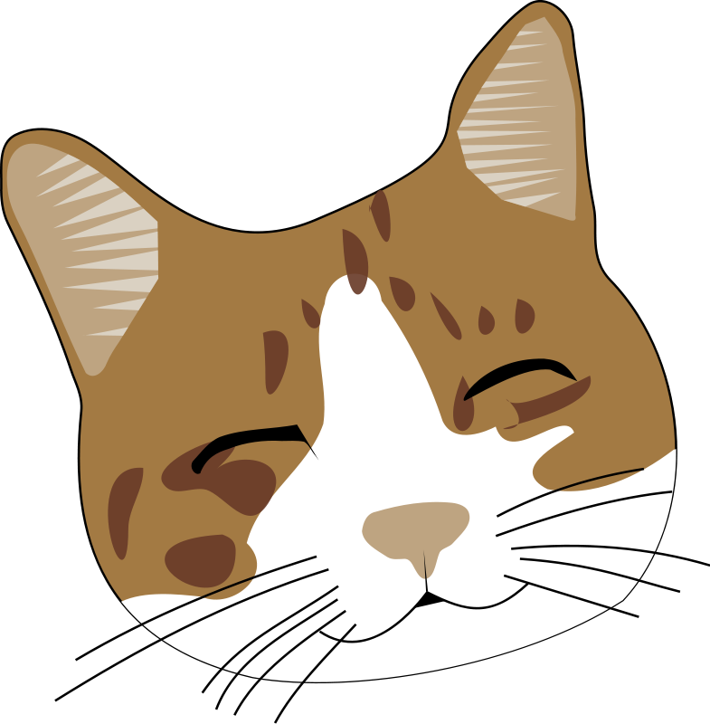 Cat clipart head black and white download Free cliparts: Smiling cat Clipart black and white download