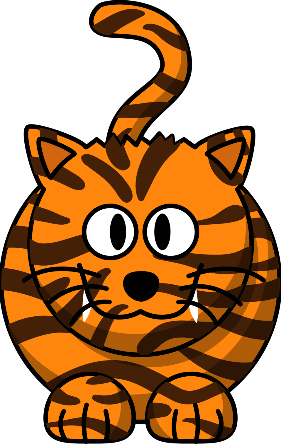Brown cat clipart library Public Domain Clip Art Image | Illustration of a cartoon tiger | ID ... library