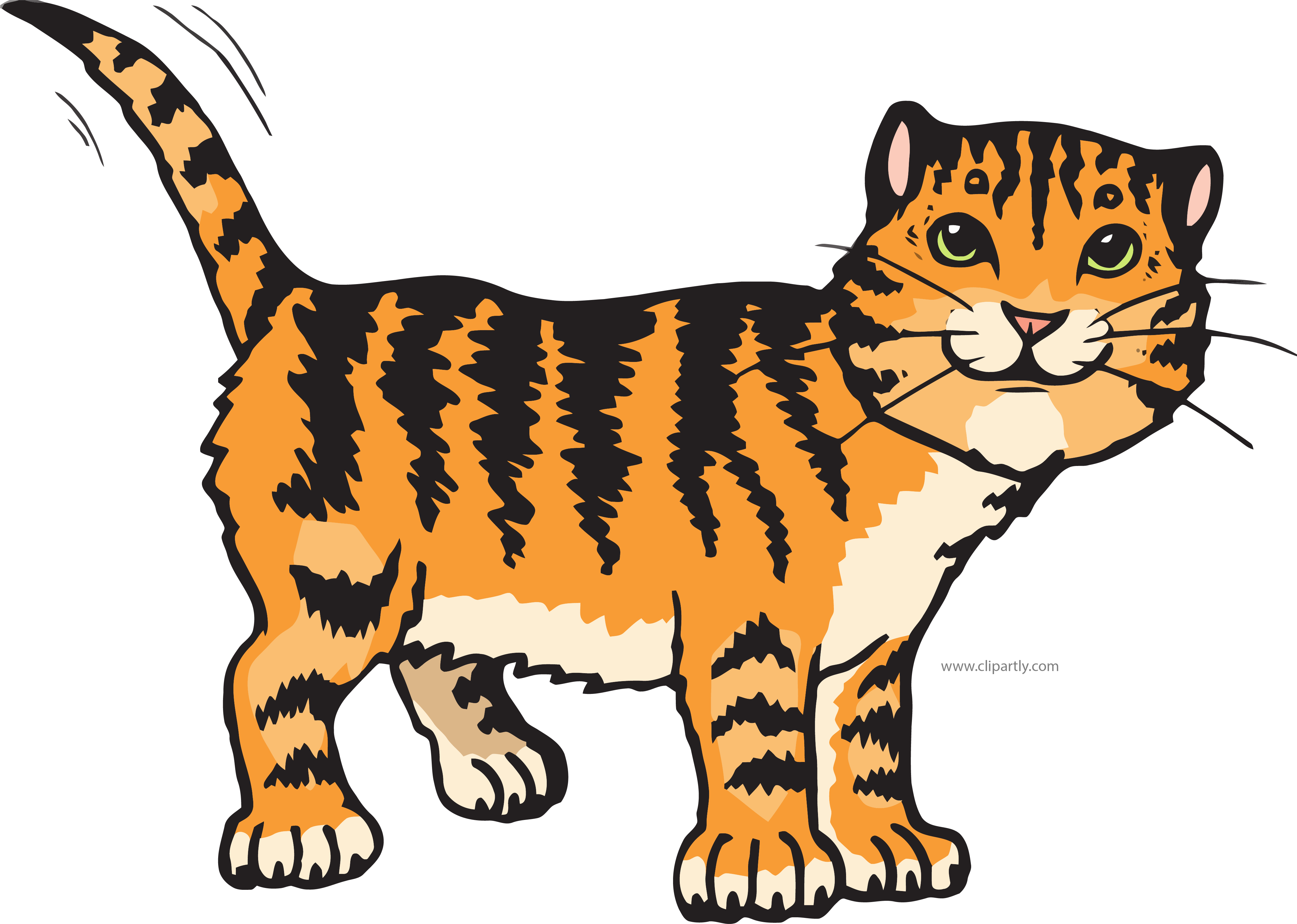 Brown cat clipart png library stock Sandy Brown Tigger Cat Clipart Png | Clipartly.com png library stock