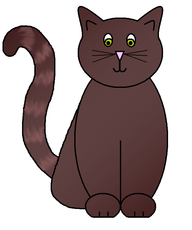 Brown cat clipart svg Graphics by Ruth - Cats svg