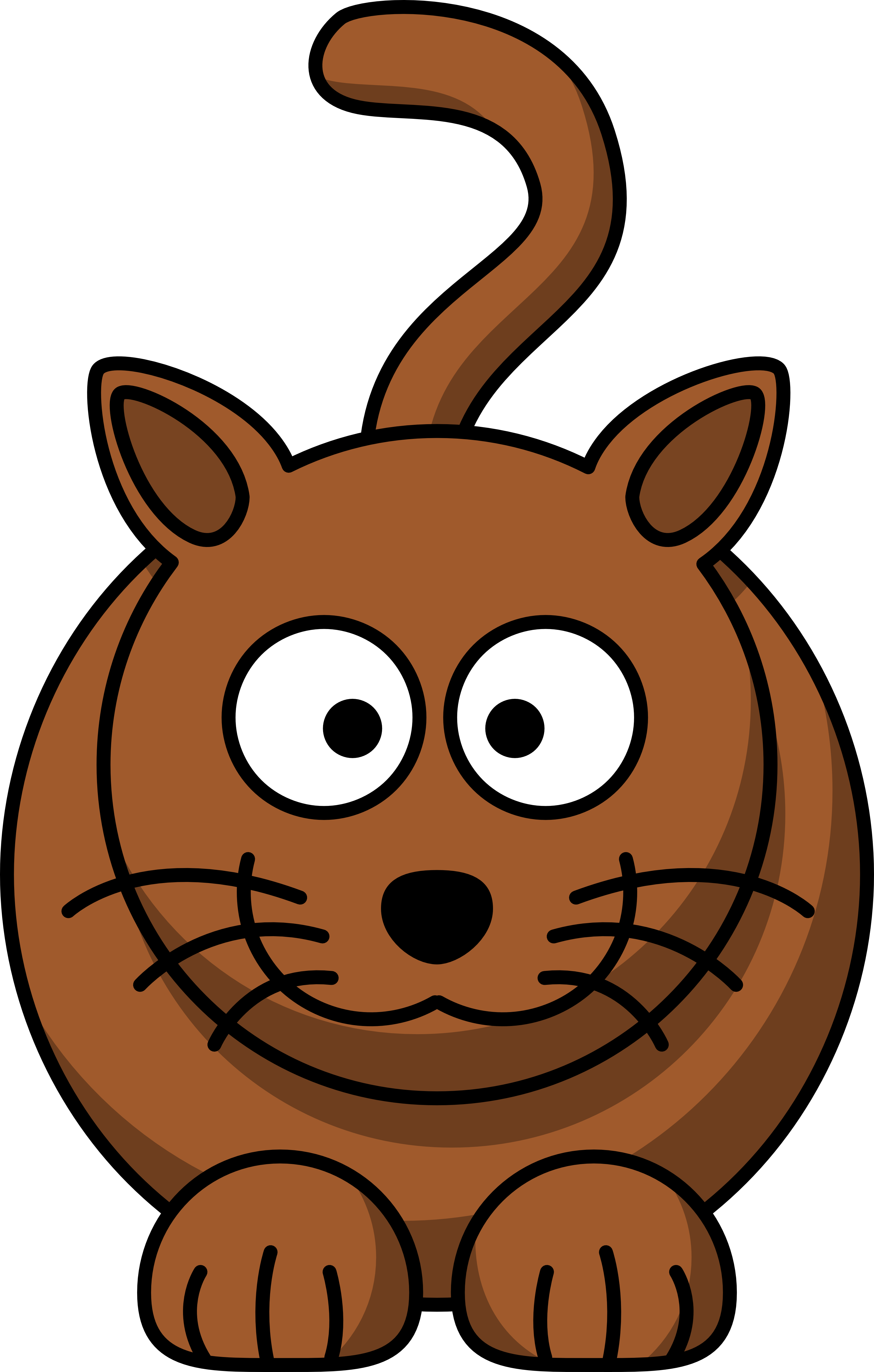 Brown cat clipart vector library Cartoon brown Cat Clipart free image vector library