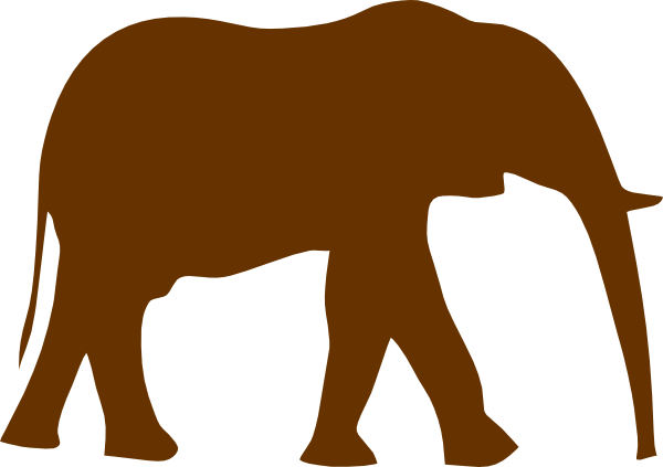 Brown clipart elephant library Chocolate Elephant Clip Art at Clker.com - vector clip art online ... library