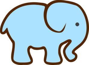Brown clipart elephant png library stock Blue Elephant Brown Clip Art at Clker.com - vector clip art online ... png library stock