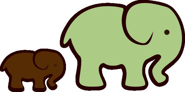 Brown clipart elephant jpg free stock Free Green Elephant Cliparts, Download Free Clip Art, Free Clip Art ... jpg free stock