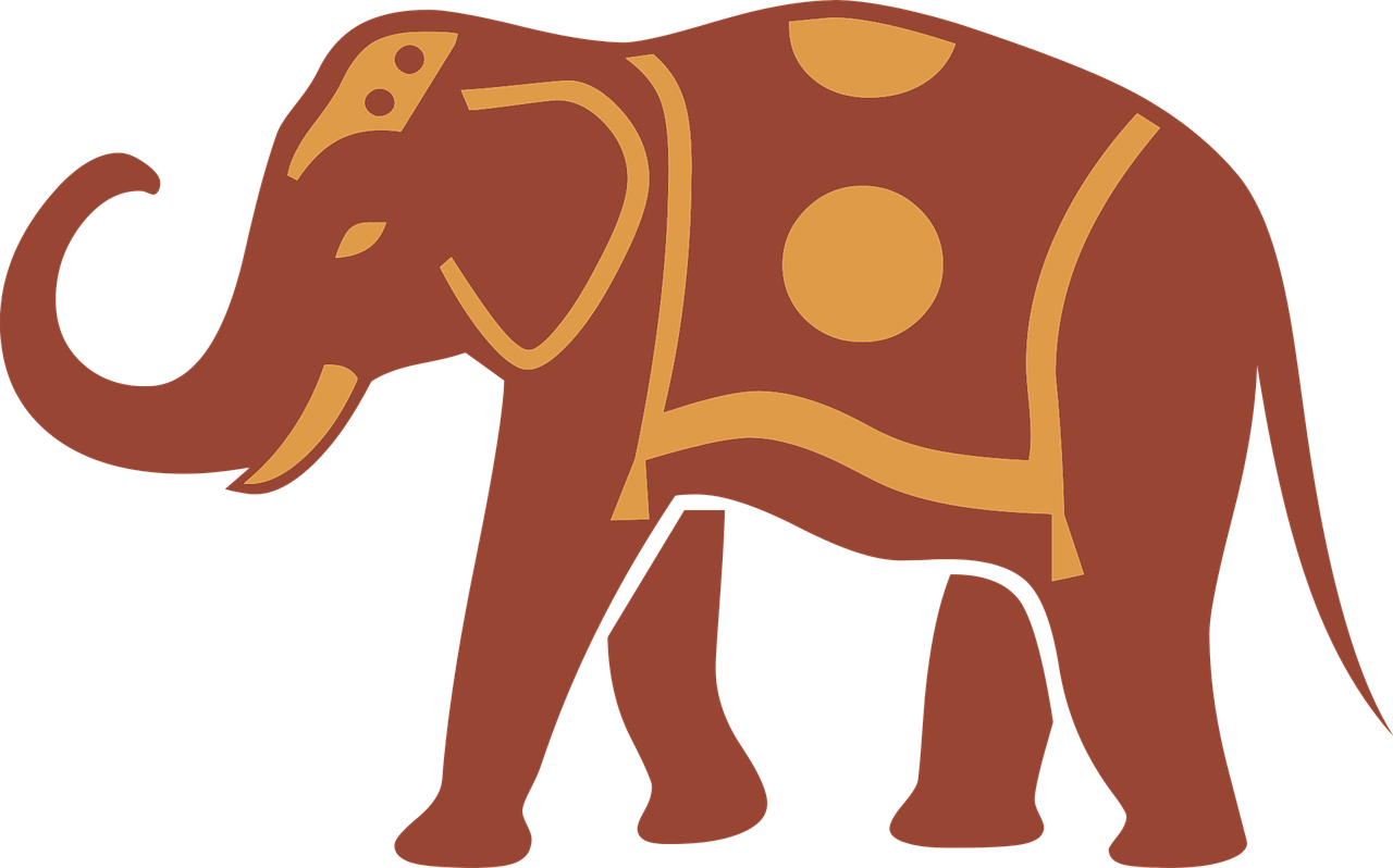 Brown clipart elephant clip art royalty free stock Elephant Silhouette Clip art - Brown-red elephant png download ... clip art royalty free stock