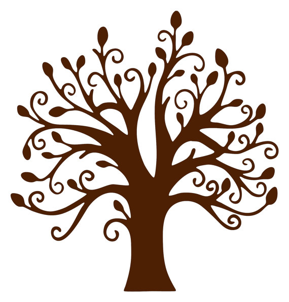 Brown clipart tree