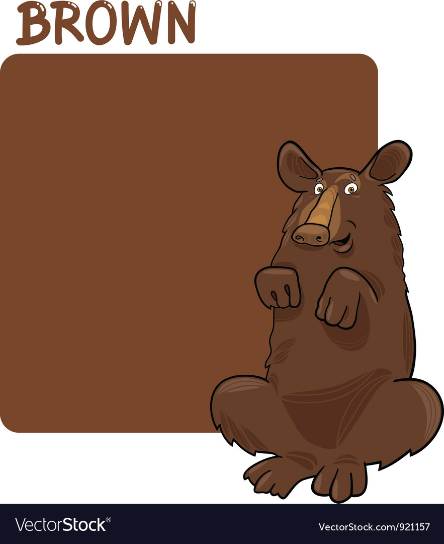 Brown color cartoon clipart clipart freeuse download Color Brown and Bear Cartoon clipart freeuse download