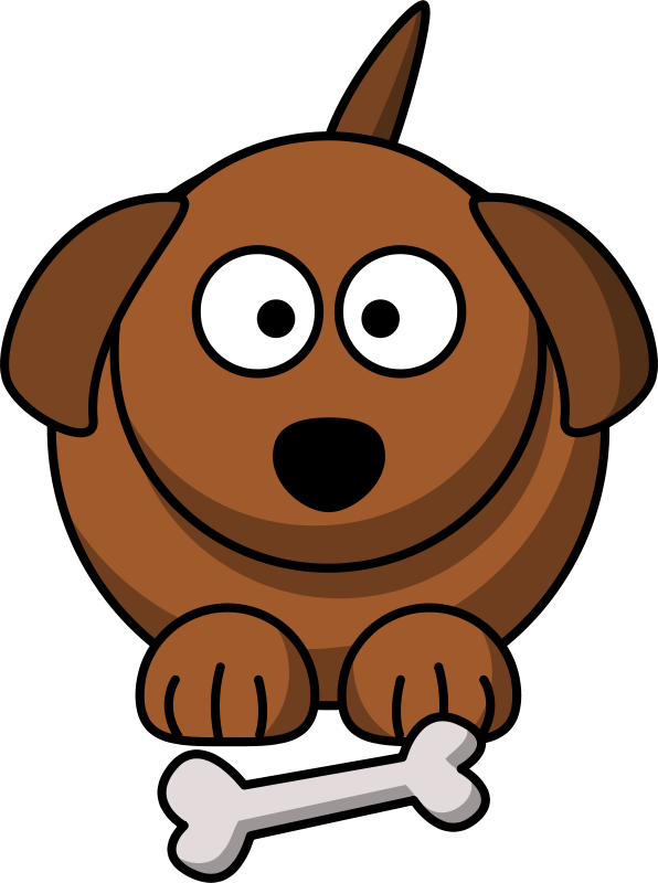 Brown color cartoon clipart black and white stock Cartoon dog by lemmling - animal, brown, cartoon, clip art, clipart ... black and white stock