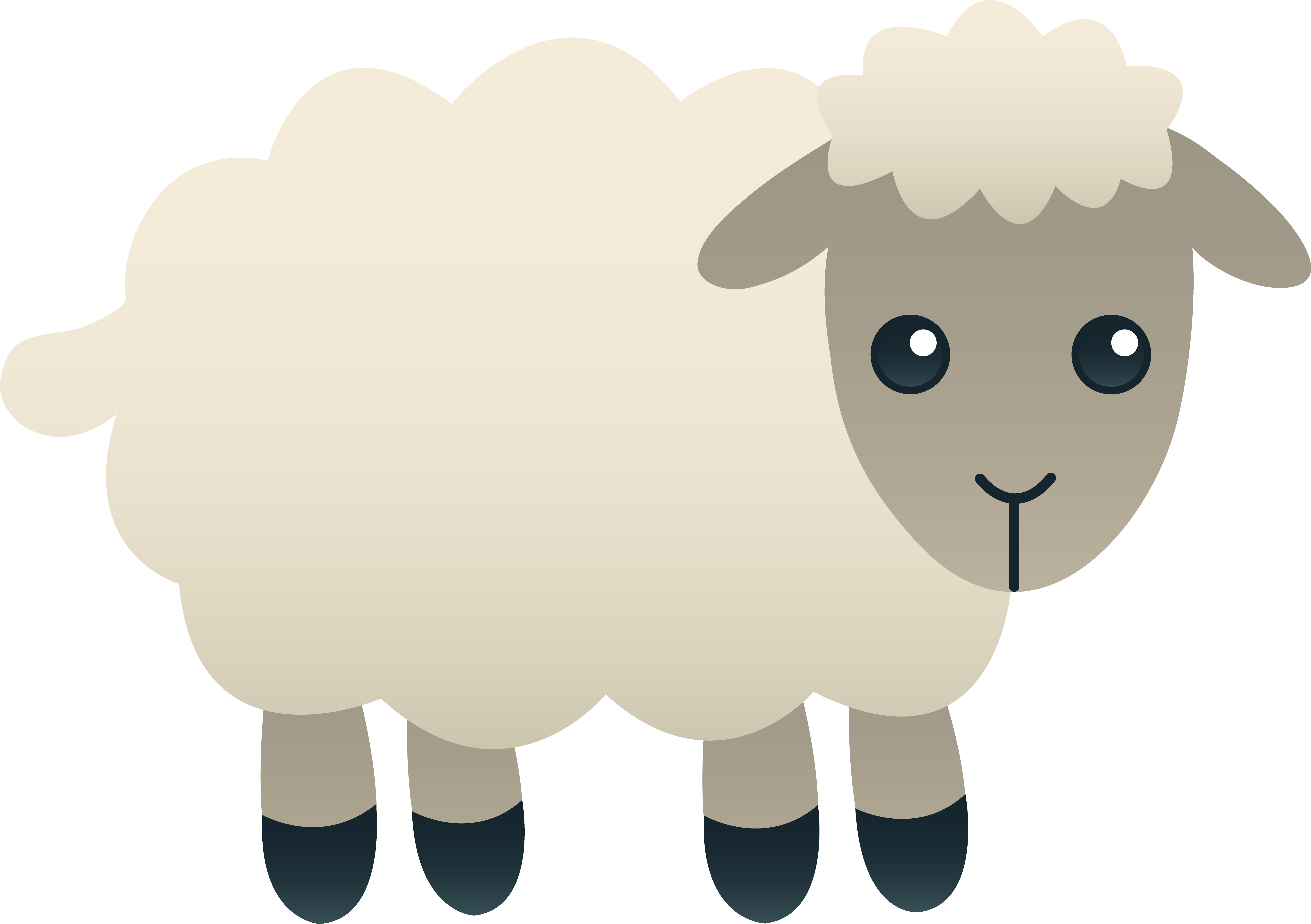Brown cross with lamb in front clipart picture royalty free download Fluffy White Sheep | AITIŅAS | Pinterest | Clip art, School auction ... picture royalty free download