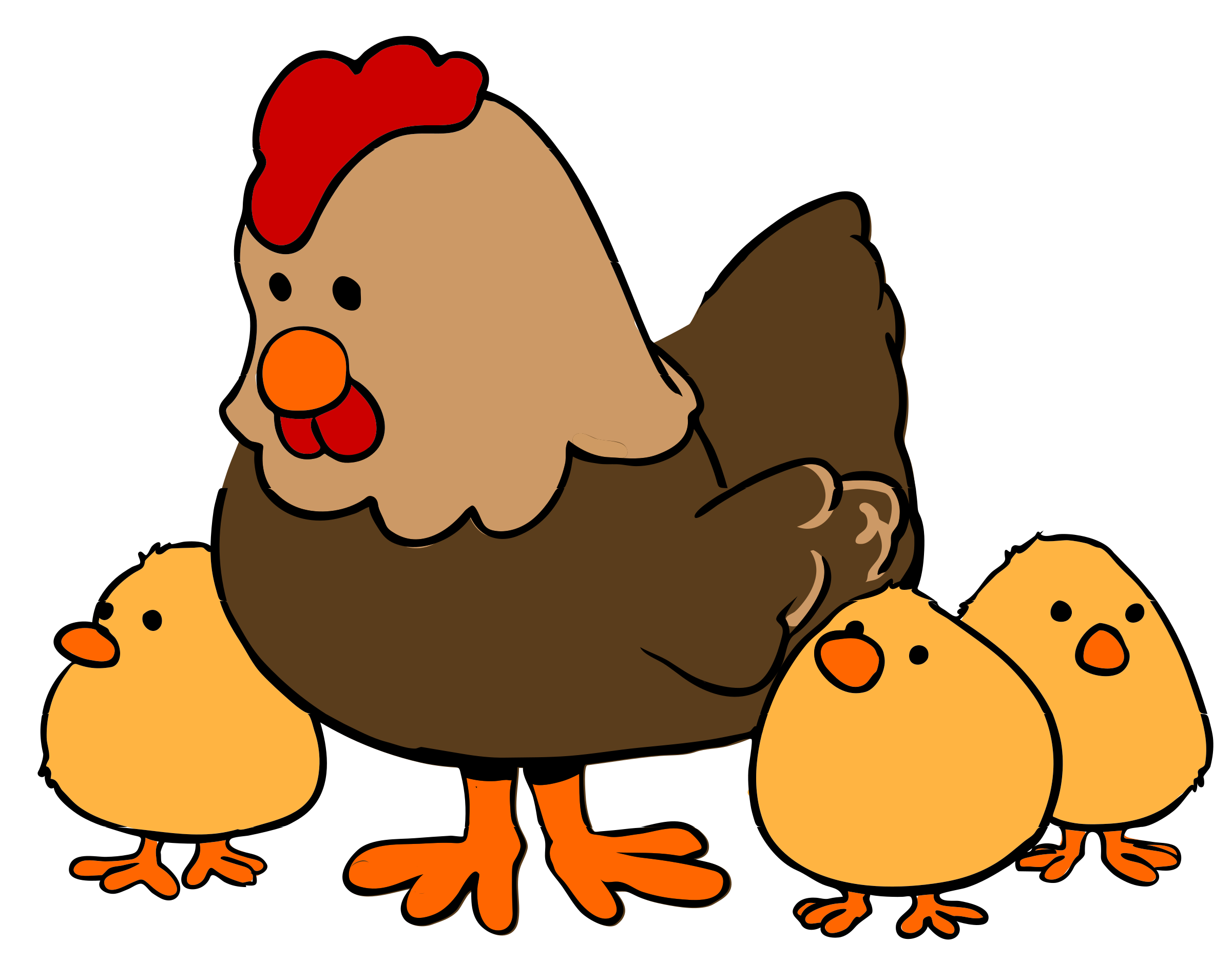 Brown cross with lamb in front clipart jpg freeuse Hen and Chicks cartoon style by qubodup | Chick | Pinterest | Hens ... jpg freeuse
