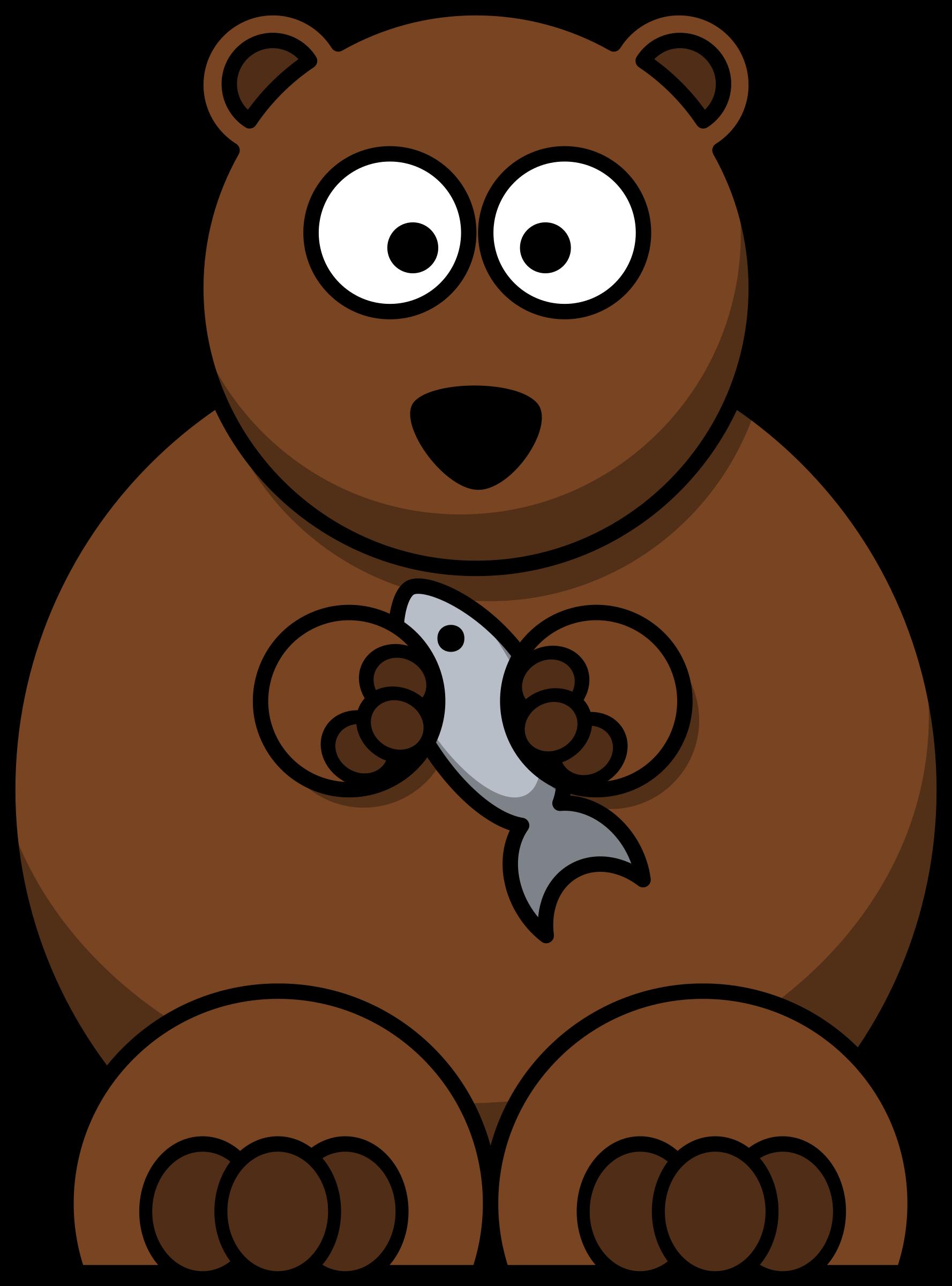 Fish eating clipart clip art download Clipart - Cartoon bear clip art download