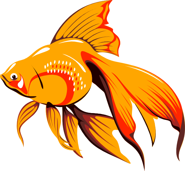 Fish in a tank clipart. Goldfish panda free images