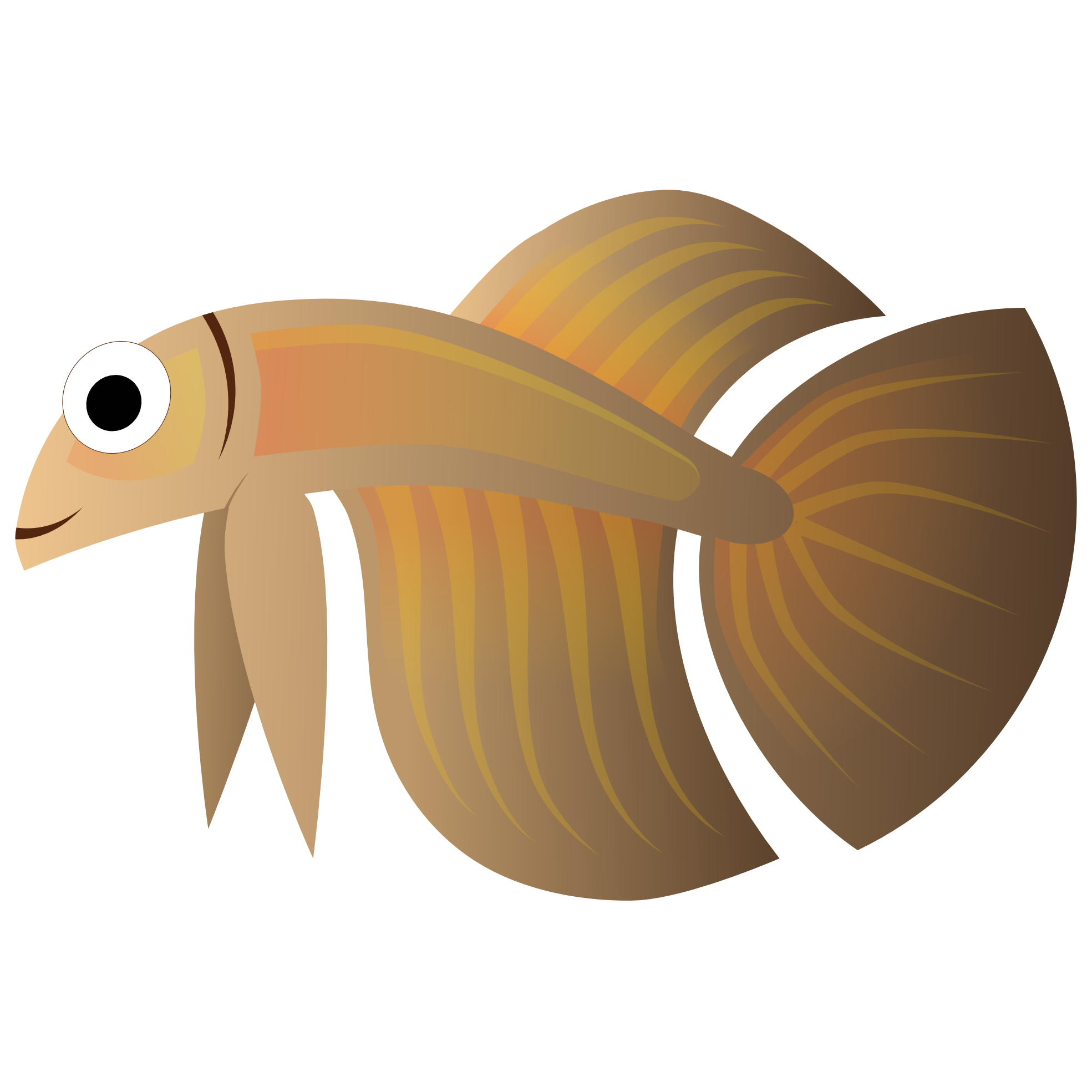 Brown fish clipart free stock clipartist.net » Clip Art » Abstract Fish 4 Scalable Vector Graphics SVG free stock