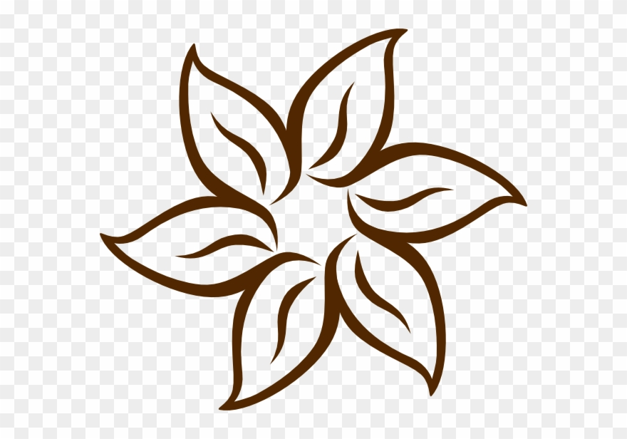 Brown flower clipart svg black and white stock Brown Flower Clip Art - Hawaii Coloring Pages Flowers - Png Download ... svg black and white stock