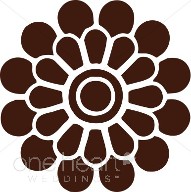 Brown flower clipart vector library download Brown Modern Flower Clipart | Clipart Color Variations vector library download