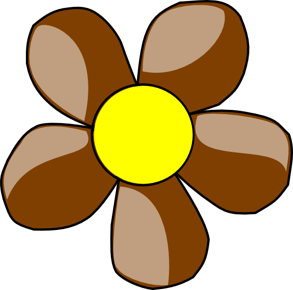 Brown flower clipart svg royalty free library Brown Daisy Clip Art at Clker.com - vector clip art online, royalty ... svg royalty free library