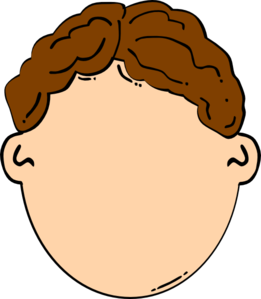 Boy with brown hair clipart graphic black and white stock Brown Hair Boy Clip Art at Clker.com - vector clip art online ... graphic black and white stock