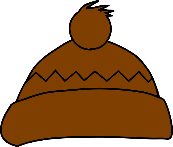 Brown hat clipart graphic library download Brown Winter Hat Clip Art at Clker.com - vector clip art online ... graphic library download