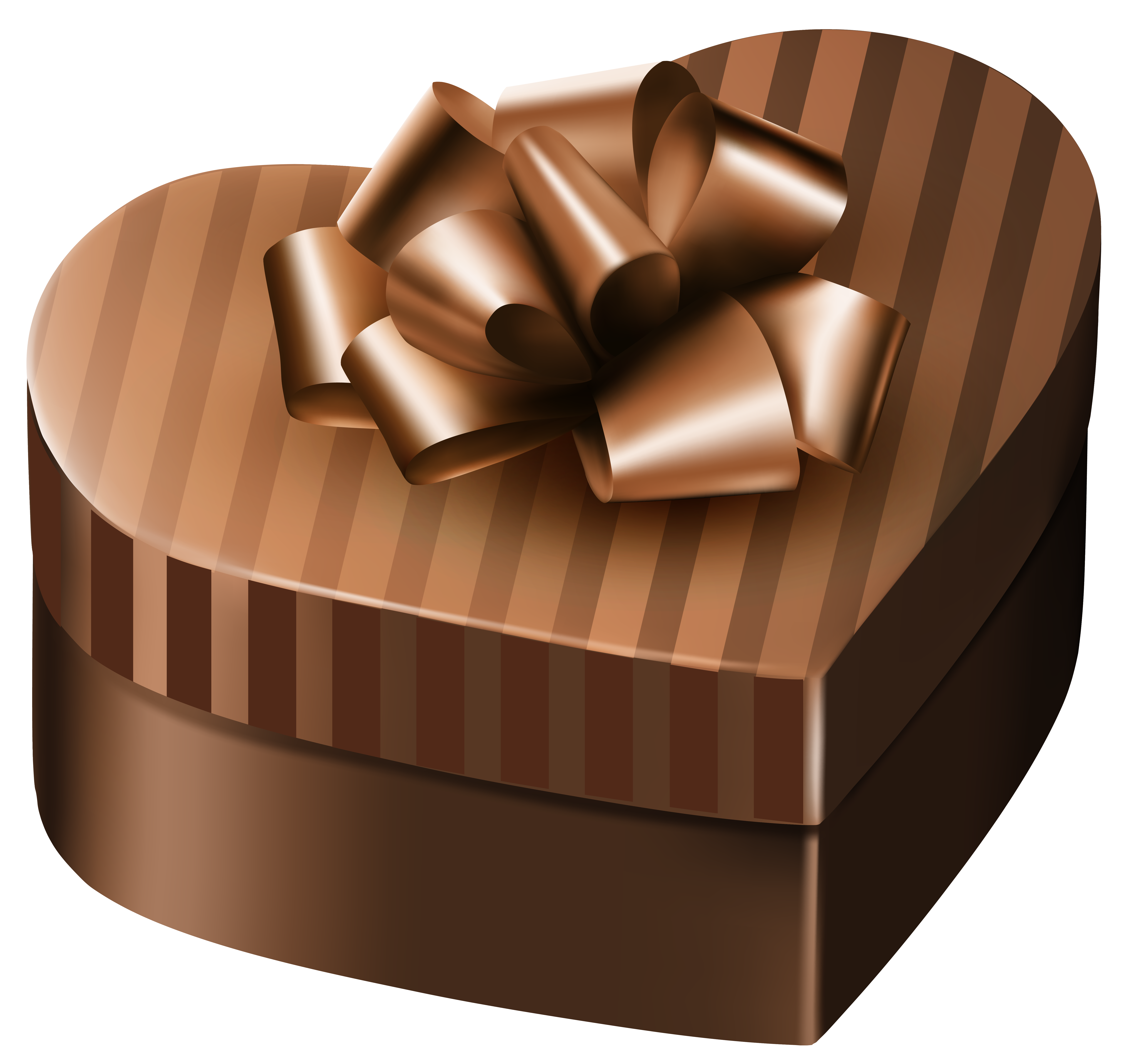 Brown heart clipart download Luxury Gift Box Brown Heart PNG Clipart Image | Gallery ... download