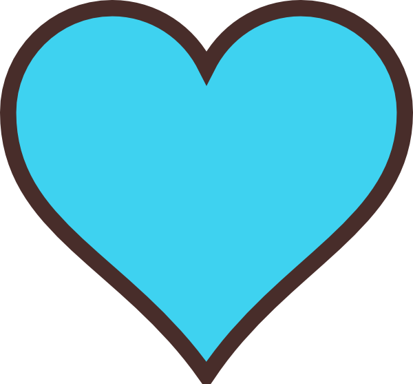 Teal heart clipart graphic Blue And Brown Heart Clip Art at Clker.com - vector clip art online ... graphic