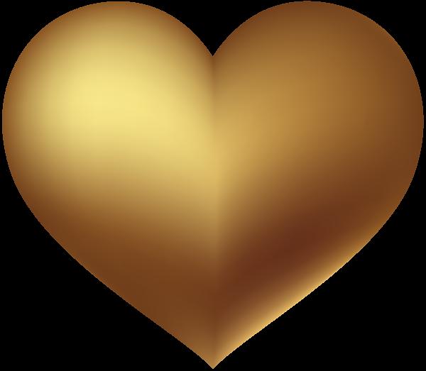 Orange heart clipart jpg transparent stock Gold Heart Transparent Clip Art Image | Gallery Yopriceville - High ... jpg transparent stock
