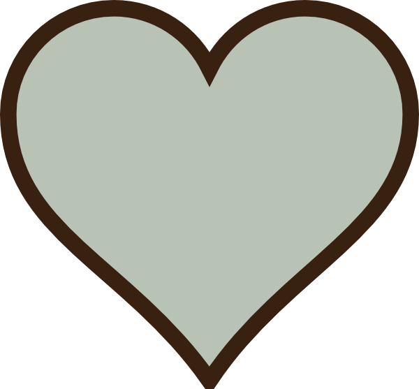 Brown heart clipart graphic library Heart, Green, Brown Clip Art at Clker.com - vector clip art online ... graphic library