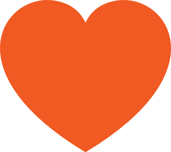 Solid black heart clipart image royalty free Free Pictures Hearts | Orange Heart clip art - vector clip art ... image royalty free