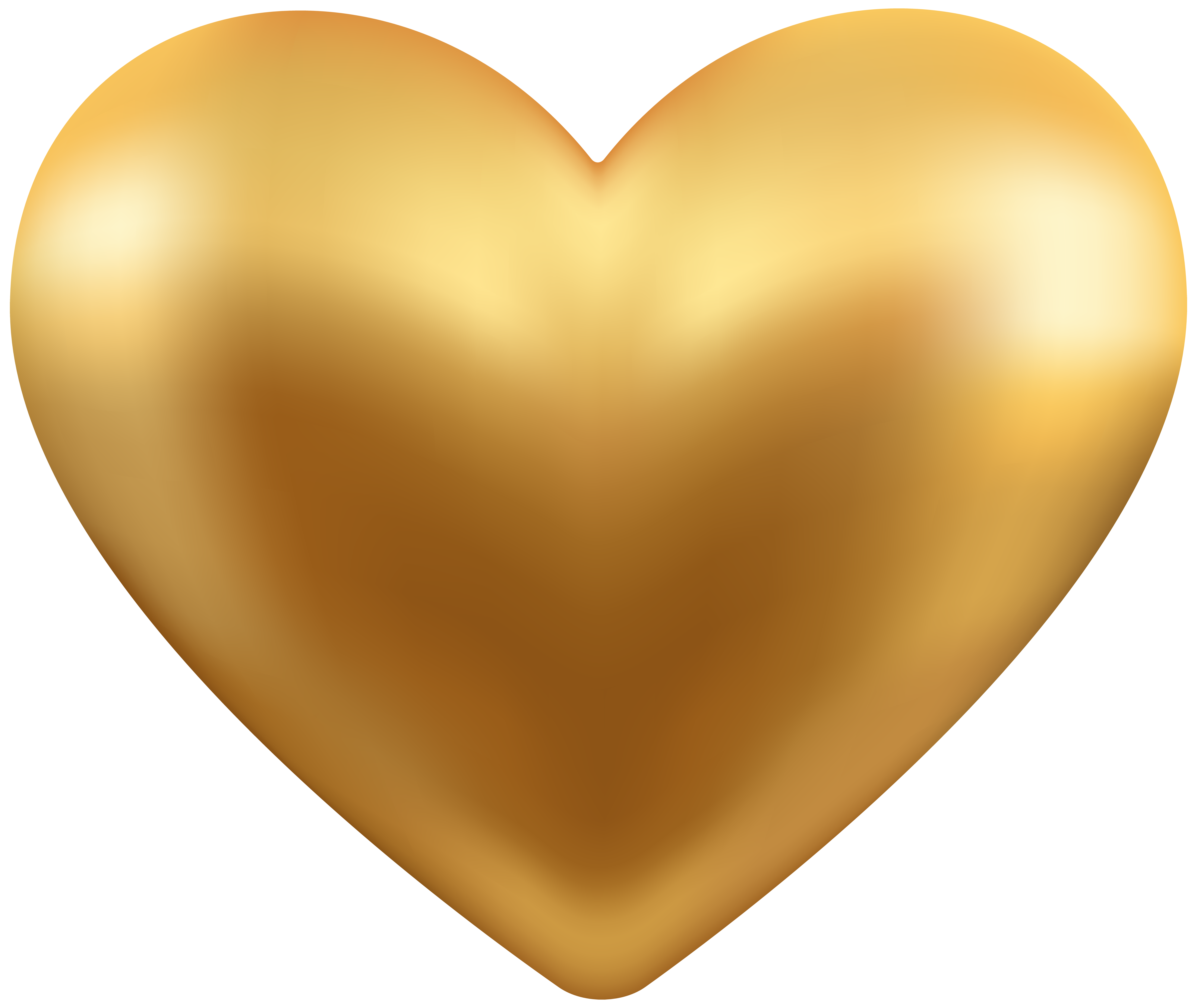 Gold heart clipart banner black and white stock Gold Heart Transparent PNG Clip Art | Gallery Yopriceville - High ... banner black and white stock