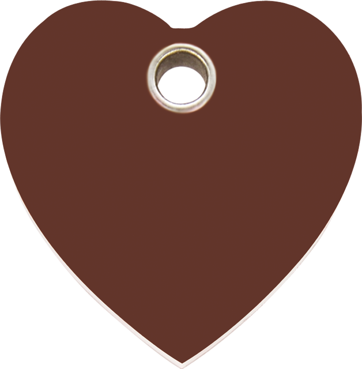 Brown heart clipart graphic royalty free download Red Dingo Plastic Tag Heart Brown 04-HT-BR (4HTBRS / 4HTBRM / 4HTBRL) graphic royalty free download