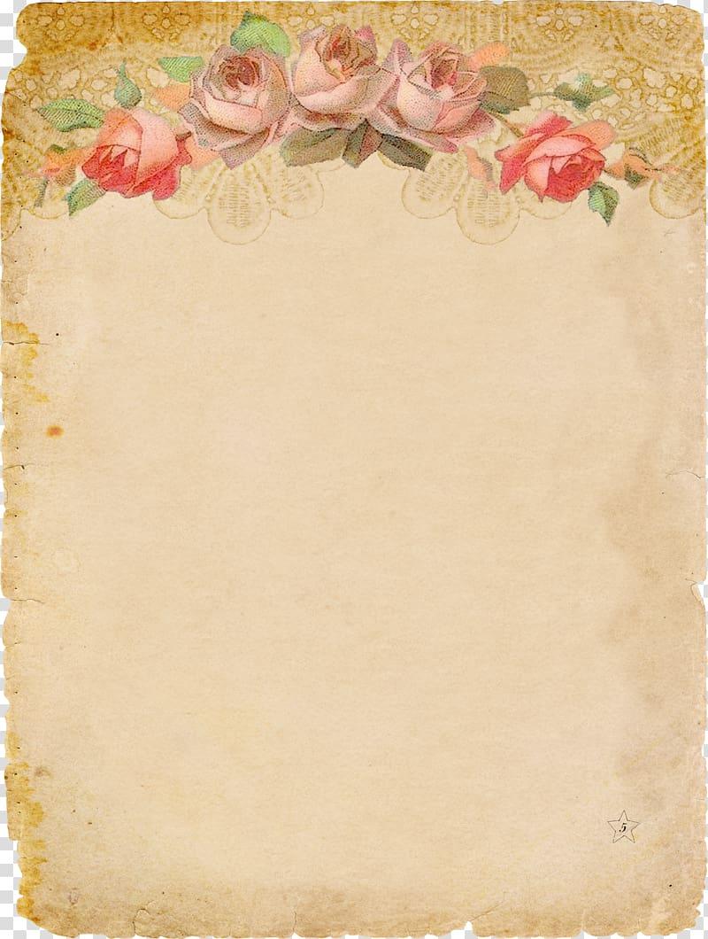 Brown invitation paper clipart