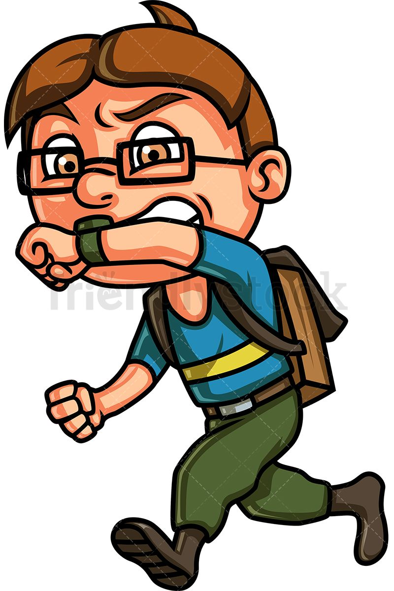 Brown kid clipart banner freeuse Kid Running Late For School   Kids Clipart   Kids running, Kids ... banner freeuse