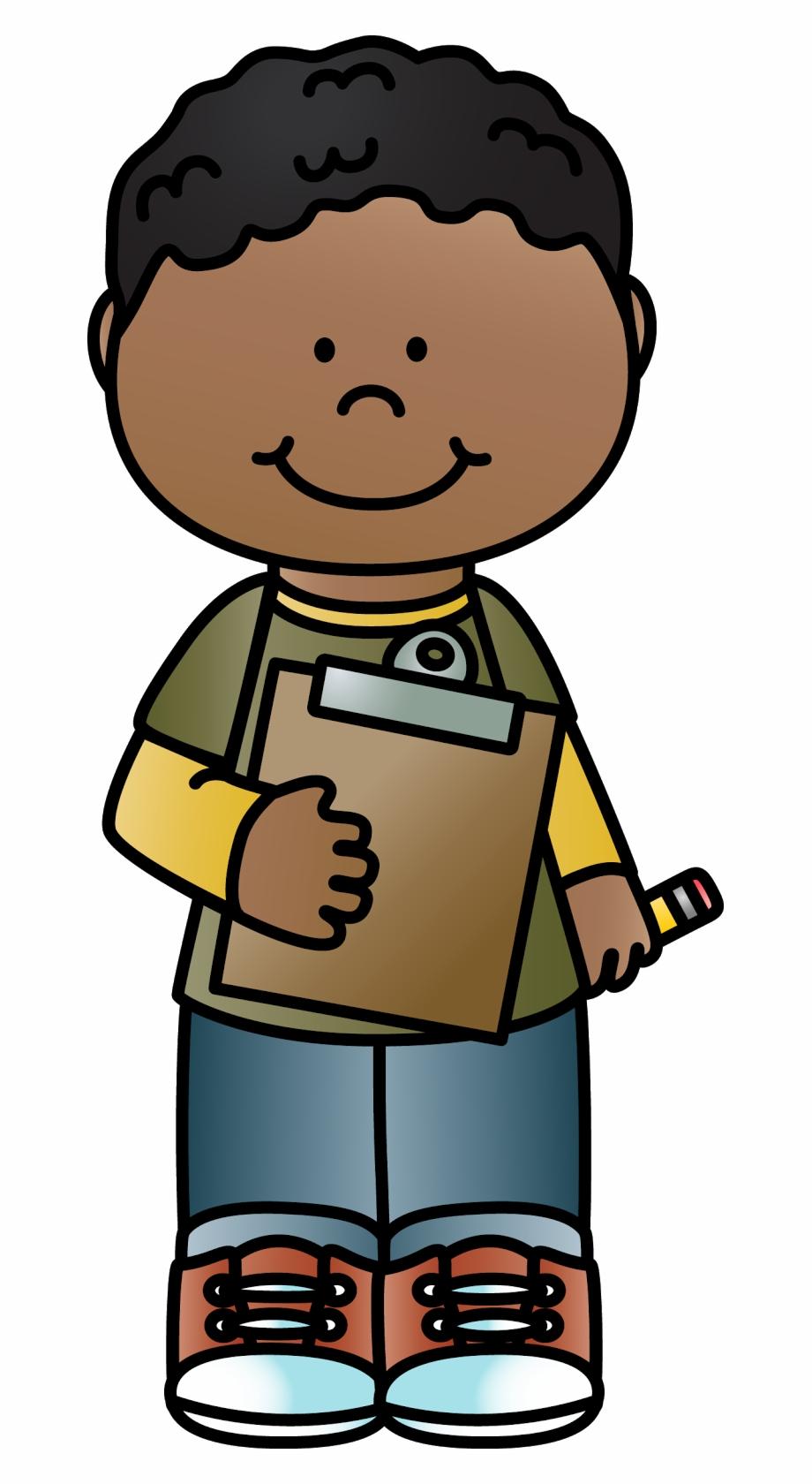 Brown kid clipart jpg black and white download Clipboard Clipart Brown - Clipart Clipboard Kid, Transparent Png ... jpg black and white download