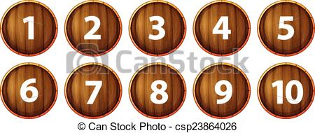 Brown number 1 clipart jpg library Clipart number 1 10 - ClipartFest jpg library