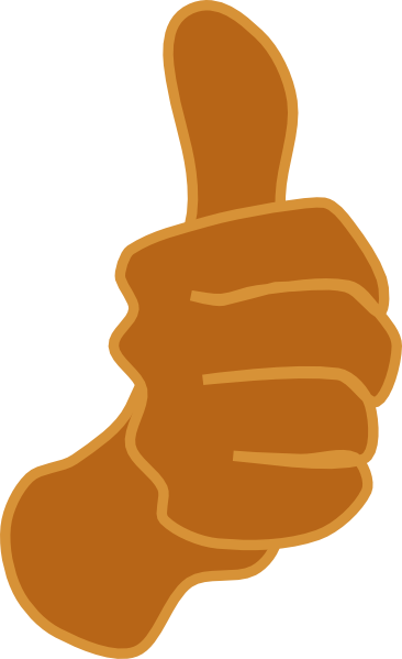Brown number 1 clipart clipart transparent download Thumbs Up Brown Clip Art at Clker.com - vector clip art online ... clipart transparent download