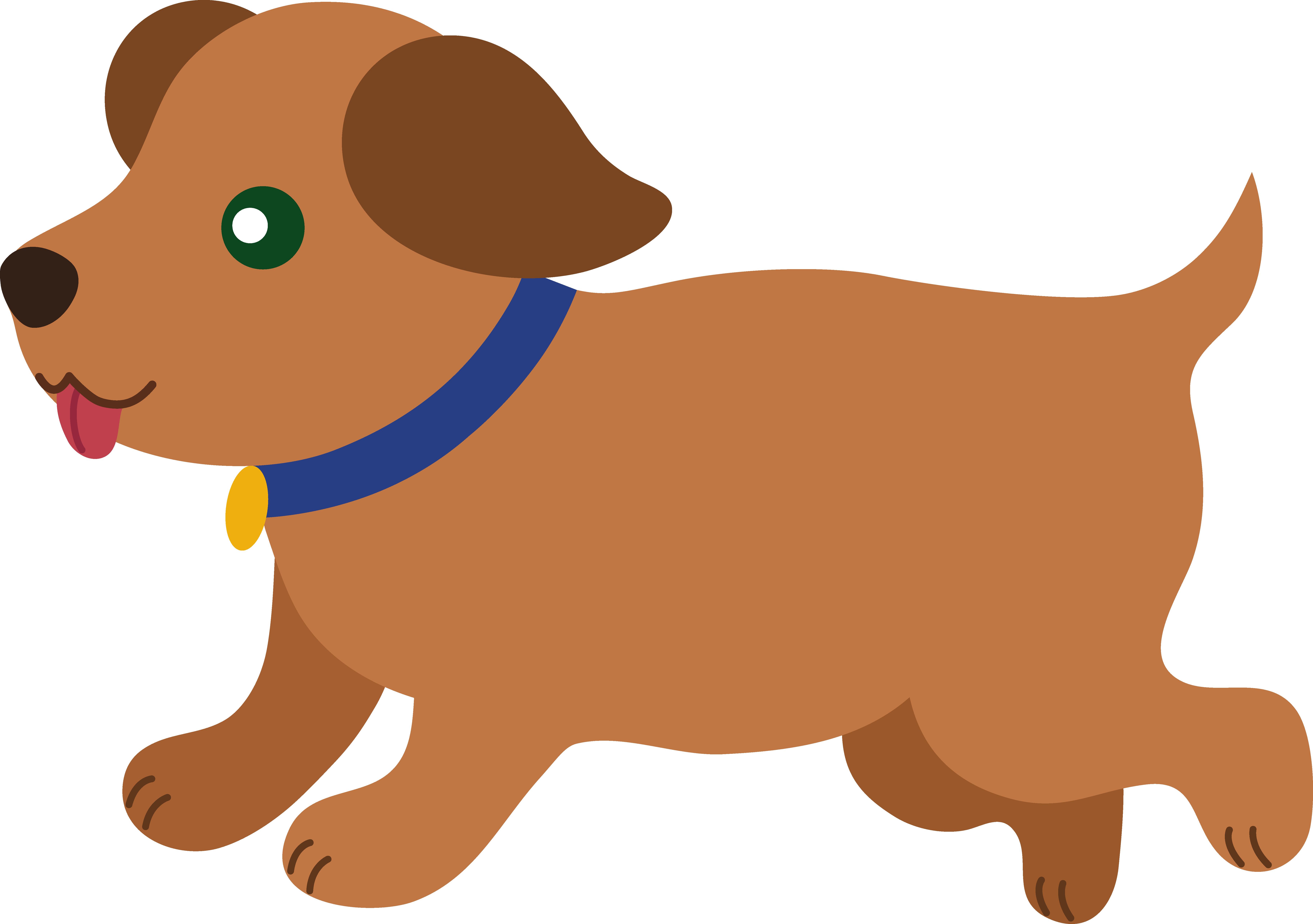 Brown puppy clipart clip art stock Cute Brown Puppy Running - Free Clip Art clip art stock