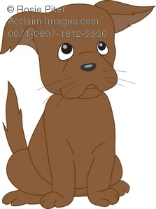 Brown puppy clipart banner transparent library Stock Clipart Illustration of a Little Brown Puppy With Sad Eyes banner transparent library