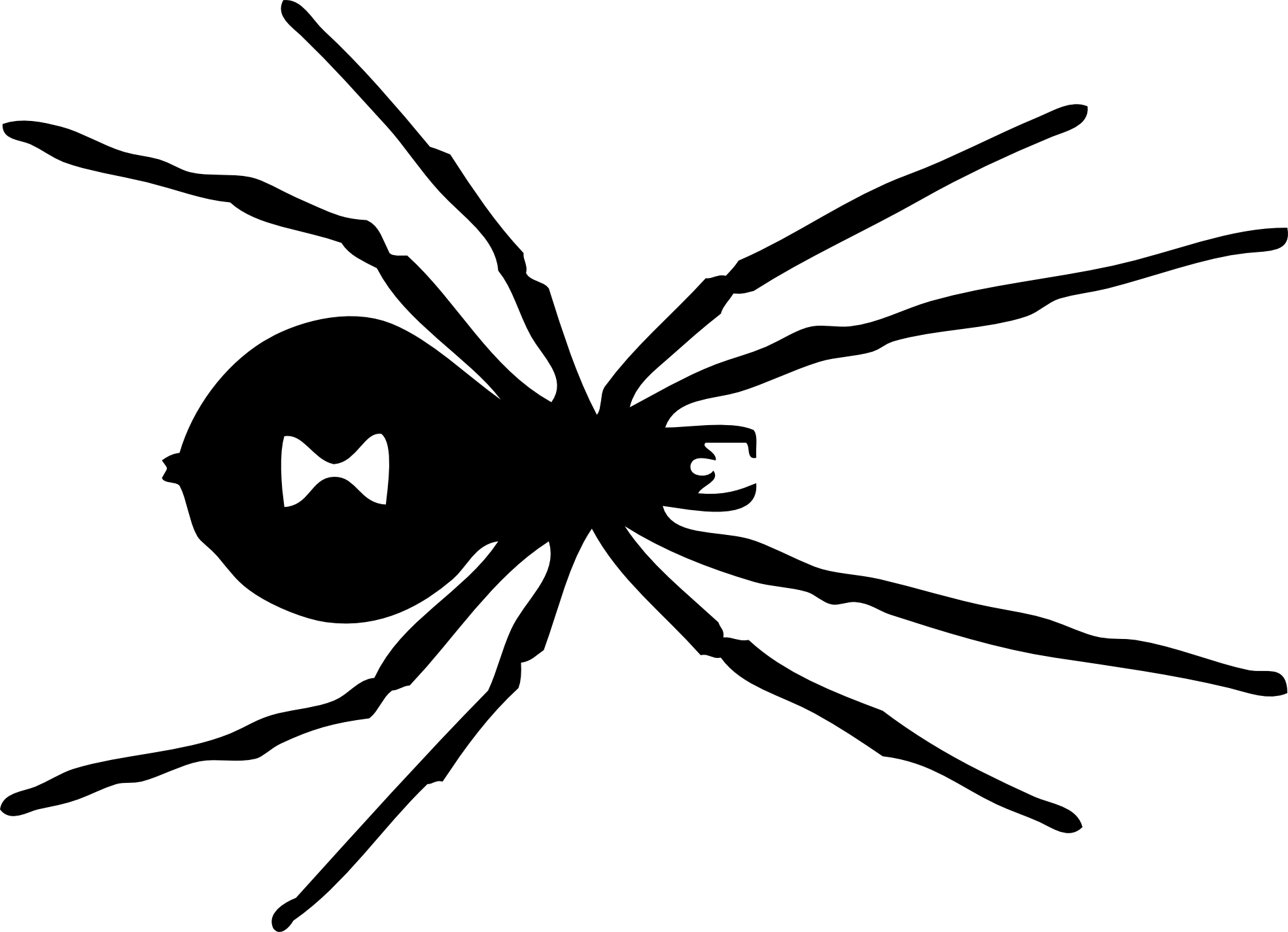 Brown recluse spider clipart black and white clip art royalty free black widow logo marvel | Got Geek? | Black widow spider, Spider ... clip art royalty free