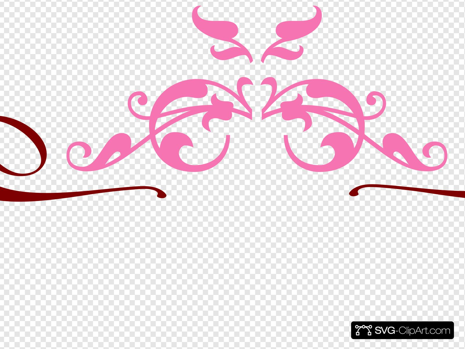 Brown scroll clipart jpg transparent stock Pink Brown Scroll Clip art, Icon and SVG - SVG Clipart jpg transparent stock