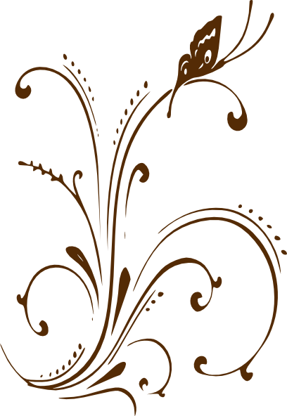 Brown scroll clipart png download Brown Butterfly Scroll Clip Art at Clker.com - vector clip art ... png download