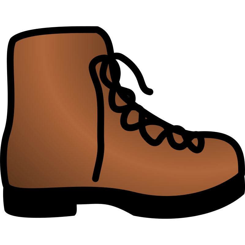 Brown shoe clipart clipart download Free Clipart: Simple brown boot | pawnk clipart download
