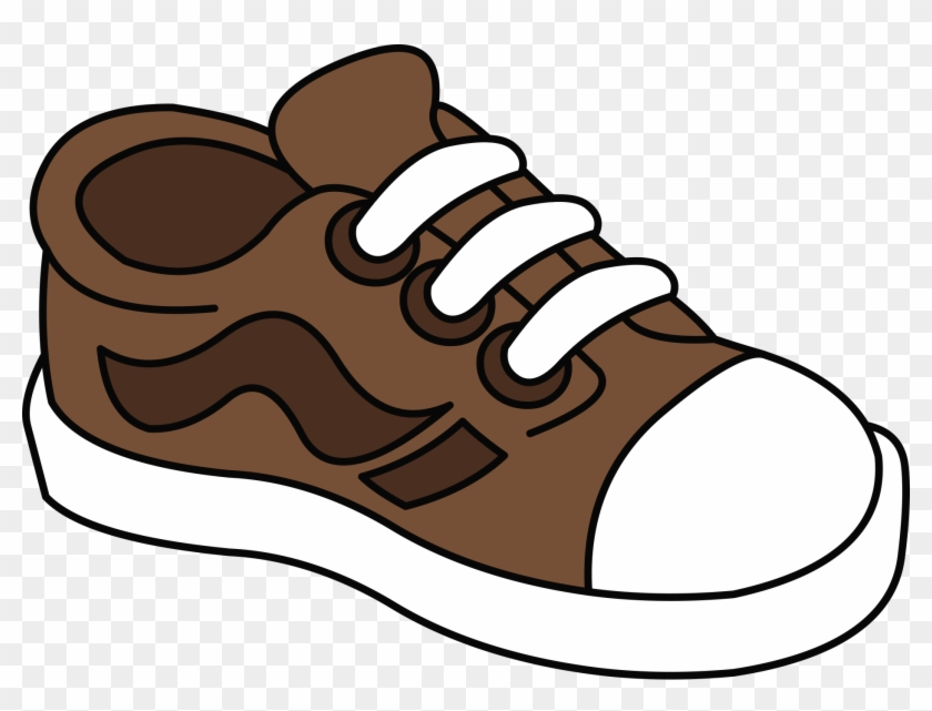 Brown shoe clipart svg black and white Converse Clipart One Shoe - Brown Shoe Clipart, HD Png Download ... svg black and white