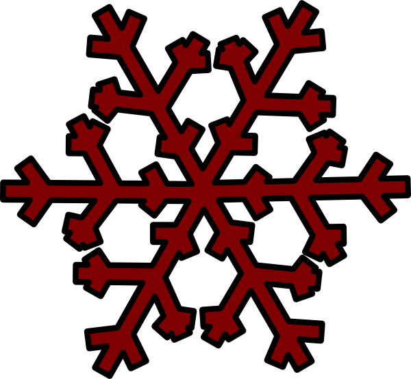 Cloud and snowflake clipart clip freeuse Brown Snowflake Clip Art at Clker.com - vector clip art online ... clip freeuse
