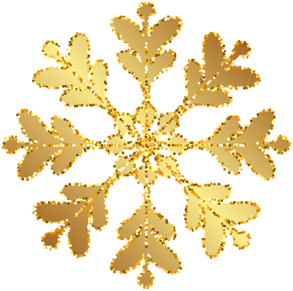 Clipart snowflake transparent jpg royalty free download Gold Snowflake Transparent Clip Art Image | Gallery Yopriceville ... jpg royalty free download