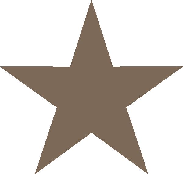 Brown star clipart picture transparent Brown Star Star Clip Art at Clker.com - vector clip art online ... picture transparent
