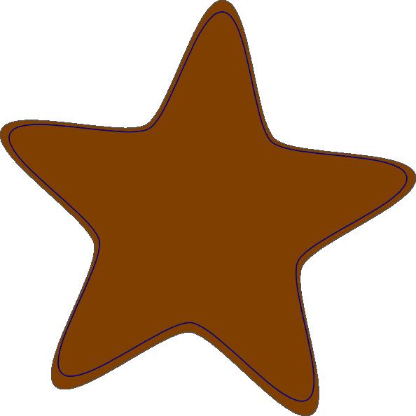 Orange star clipart jpg black and white library Brown-clip-art-star-hi Clip Art at Clker.com - vector clip art ... jpg black and white library