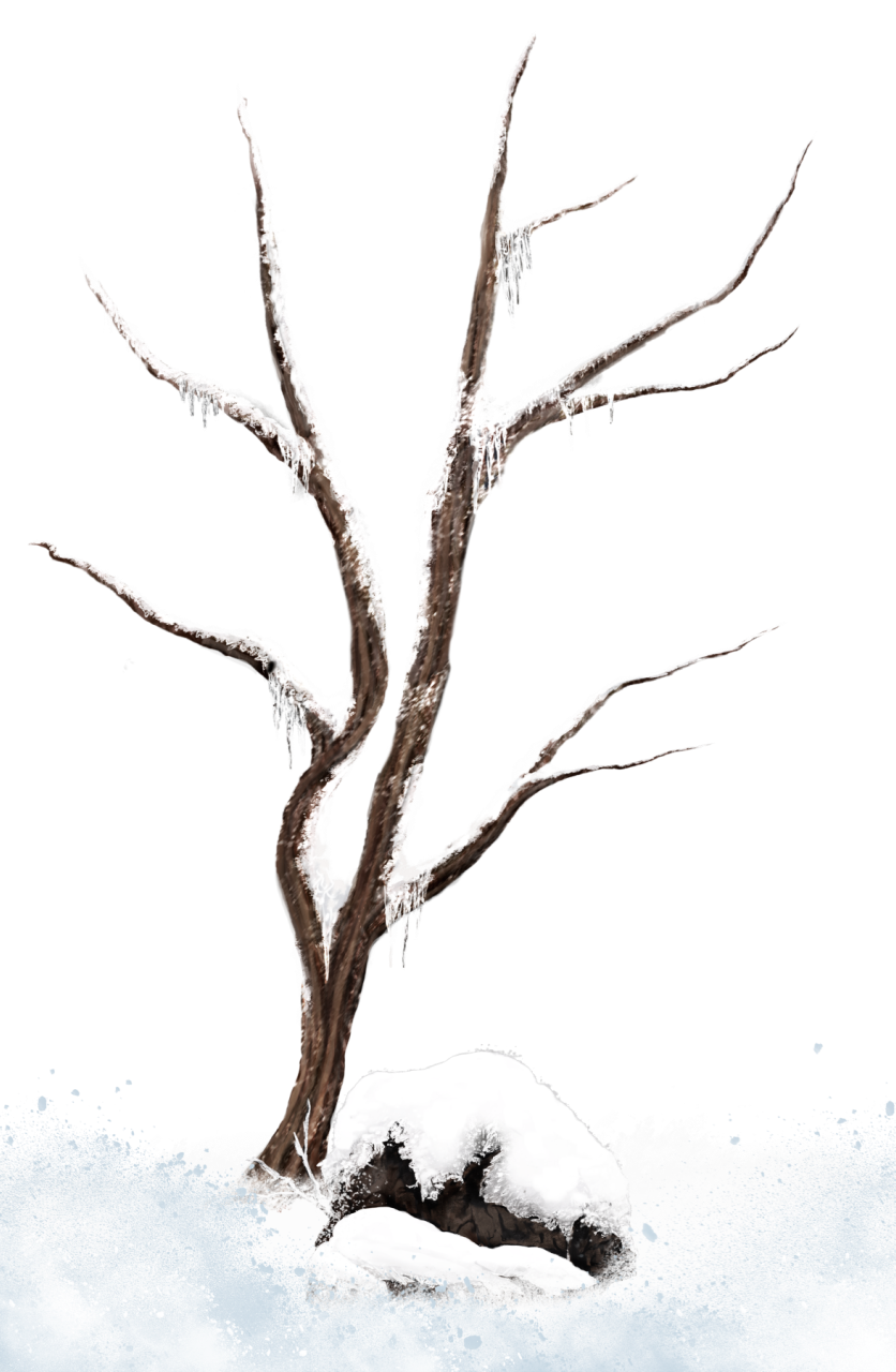 Brown tree clipart banner freeuse library Brown Winter Snowy Tree PNG Clipart Picture | Gallery Yopriceville ... banner freeuse library