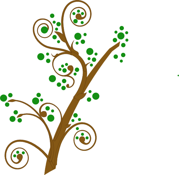 Brown And Green Tree Branch Clip Art at Clker.com - vector clip art ... svg royalty free stock