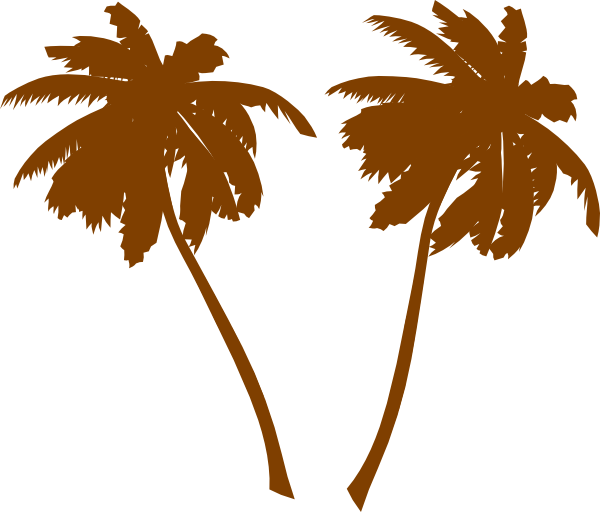 Palm tree clipart banner freeuse library Brown Palm Trees Clip Art at Clker.com - vector clip art online ... banner freeuse library